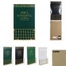 Großhandel Geschäftsausstattung: Holz und Gold Zitat Post Halter 24x6,3x40cm, 4-