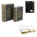 groothandel Huishouden & Keuken: vak trundle boek deco zwart x2 20x27x7cm, 1 keer
