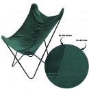 green reversible velvet butterfly chair, 1-time