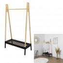 mayorista Boutiques y almacenamiento: vistiendo ropa de madera negra 100x46x170cm, 1 vez
