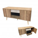 tv cabinet 2 doors and 3 drawers ethnical wood