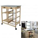 serving trolley little market 67x35x81 cm