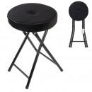 folding stool velvet black margot
