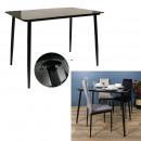 black glass dining table 110x70cm
