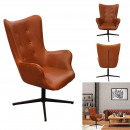 helsinki pu brown armchair