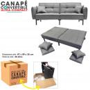 gray convertible sofa