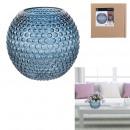 groothandel Home & Living:vaas dolia blauw 18cm