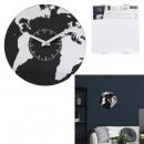 groothandel Huishouden & Keuken:klok glas wereldkaart