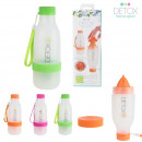 Bottle 600ml and juicer, 3-fold assorted