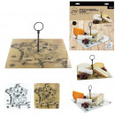 France cheese tray 31x31cm card, 2-times as