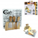 Cheese board with 3 loving utensils, 1-fo