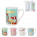 gift mug, 4- times assorted
