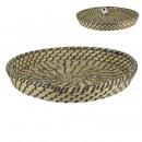 black braided tray 35cm, 1- times assorted