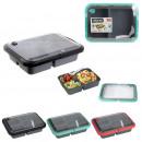 lunch box 1l Bloccare clip, 3- volte assortito