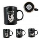 black and white straight mug, 3- times assorted