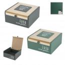 wooden box with flapper little market, 2-faith