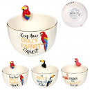 flamingo bowl toucan parrot 40cl, 3- times assorte