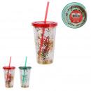 double-wall glitter christmas mug, 2-f