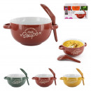 bowl xl soup with spoon12, 3- times assorted