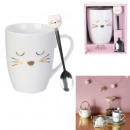 cat mug with spoon 30cl