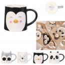 40cl animal mug, 4- times assorted