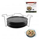 Pizza 32cm Platte x3 mit Unterstützung, einmaliger