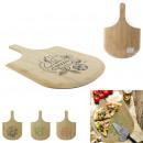 legno scheda di presentazione pizza, 3 volte assor