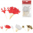 pic deco festive christmas x12, 3- times assorted