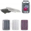 21 cube tray with airtight lid, 3-times as