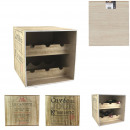 wine cellar 6 bottles wood, 2 times assorted