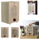 wood wine dispenser 5l, 2- times assorted