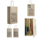 wine box wood 2 bottles, 2- times assorted