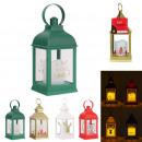 lantern candle christmas led 24cm, 4- times assort