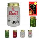 mason jar led christmas, 4- times assorted
