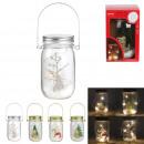 mason jar led christmas decoration, 4- times assor