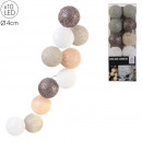 garland ball 10 led brown taupe 4x192cm