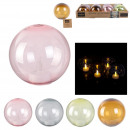 wholesale Home & Living: candle deco led table 9x9.5cm, 4- times assorted