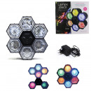 6 spots disco lamp 282 LEDs, 1-times assorted