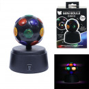 Mini disco ball with battery, 1-fold assorted