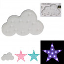 led star cloud lamp, 3- times assorted