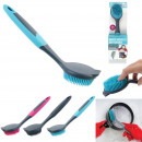 wholesale Cleaning: rubber dishwashing brush, 3- times assorted
