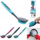 rubber dishwashing brush, 3- times assorted