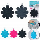 silicone flower sponge, 3- times assorted