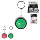 keychain with yes no sound button, 2-time assor