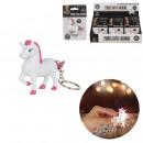 Keyring unicorn sound and light, 1-time asso