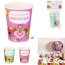 Birthday cup mr mme x6, 2- times assorted