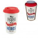 Papa transport mug, 1-fold assorted