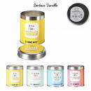 candle tin box, 4- times assorted