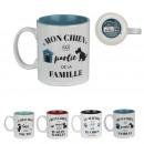 dog mug, 4- times assorted