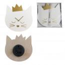 cat clock 30x30x4.5 cm